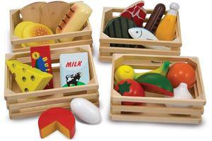 comida de juguete de madera