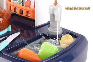 cocina de juguete con agua de verdad